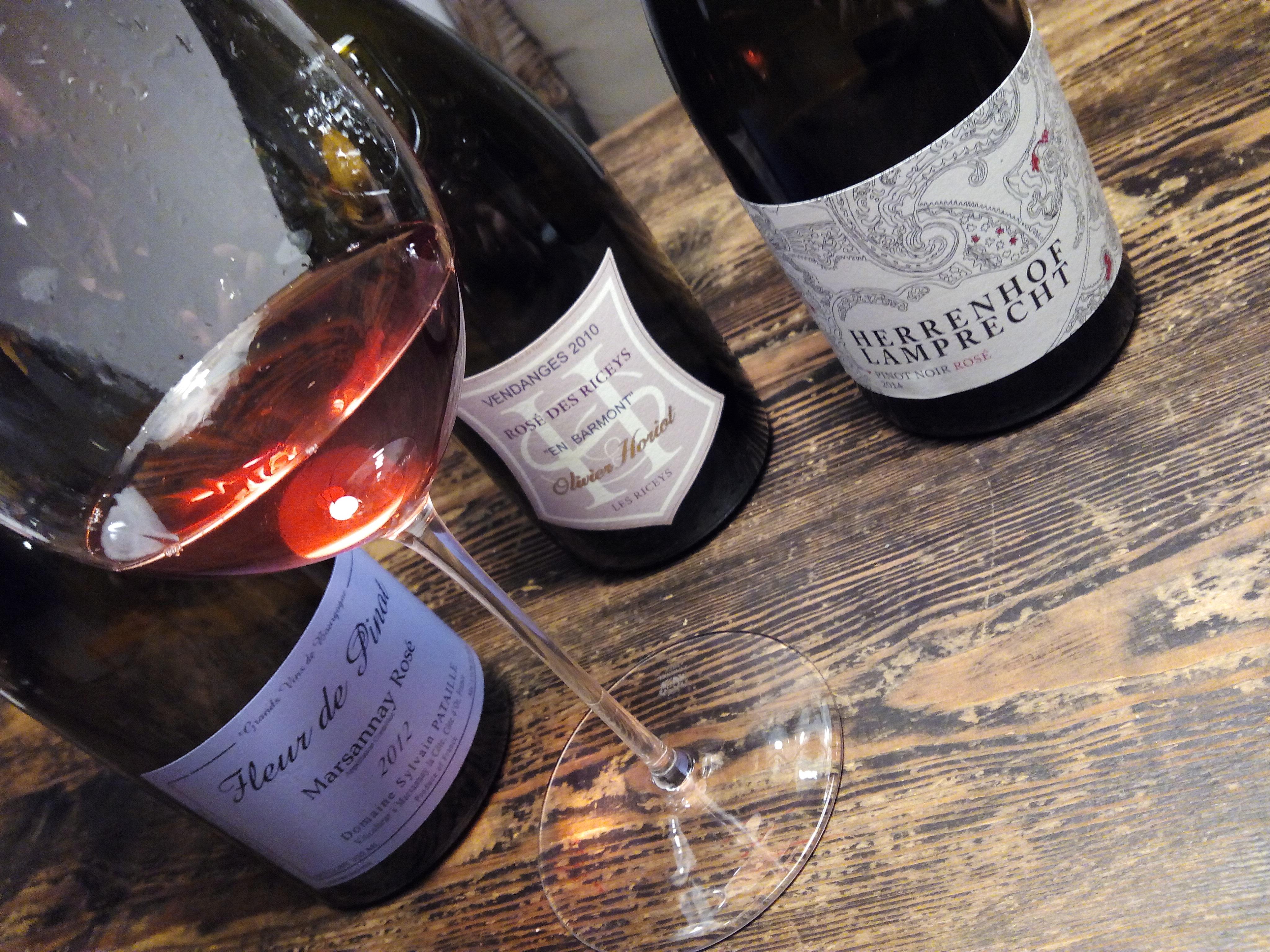 Drei Pinot-Rosé